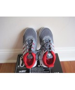 BNWOB/NIB Adidas Hyperfast 2.0K little/big boy shoe, grey/red, lace up, ... - $32.99