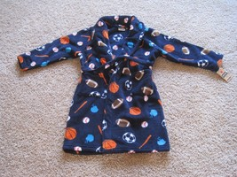 BNWT Urban Pipeline Plush fleece robe, boys, M(8/10), sportball print, n... - $17.60
