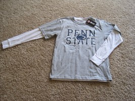 BNWT PennState Boy T-shirt, M(10-12), Long sleeve white & short sleeve g... - $13.55