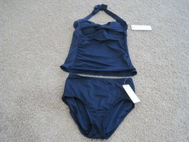 BNWT Anne Cole Signature women's 2pc swim costume, XS, Navy, Nylon, $110 - $30.14