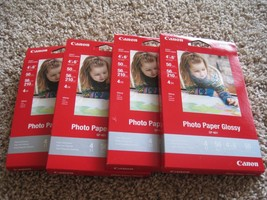 "BNIP Canon Pixma glossy photo paper, 4""X6"", 200 sheets (4pks of 50 each), GP-601 - $18.05"