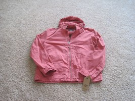 BNWT Dockers men's jacket, sizes M or L, red hooded or black, $150-$180 - $70.13+