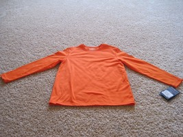 BNWT ZeroXposur Long sleeve boys' crew neck t-shirt, M(10-12), Orange, $25 - $12.19