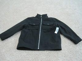 BNWT Old Navy boys full zip up wool blend black coat, size S(6-7), MSRP $49.94 - $22.13