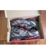 BNIB New Balance KJ550BRY Boys' Running Shoes, size 1M, red/grey, Lace up - $37.05