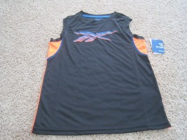 BNWT Reebok Playdry boys' Active Tank, Sizes S(8), M(10-12), blk, polyes... - $10.00