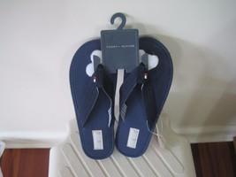 BNWOB Tommy Hilfiger Boys flip flops, navy/camo, size 2/3 or 4/5 - $10.99