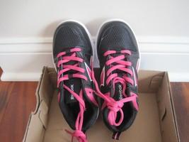 BNIB Girl's Reebok Clean Shot CXT Athletic Shoes, size12, laceup, blk/pink/white - $23.03
