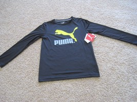 BNWT Puma Cell boys' active t-shirt, long sleeve, black, crew neck, S(8)... - $14.90