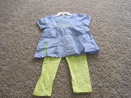 BNWT Carter's Playwear toddler girls 2pc summer Pant set, size 4T, blue/yellow - $8.60