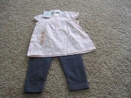 BNWT Carter's Playwear toddler girls 2pc summer Pant set, size 2T, blue/pink - $8.60
