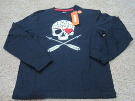 BNWT Gymboree boys' long sleeve glow in the dark cotton t-shirt, navy, s... - $10.39