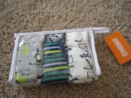 BNIP Gymboree 3pk boy's 100% cotton briefs, L(10-12), assorted, logo wai... - $10.50
