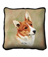 "Welsh Corgi Pillow Pure Country Weavers 17""x17"" Cotton Dog - $28.00"