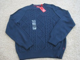 BNWT Izod Men's 100% cotton, cable knit, long sleeve sweater, Sizes M or... - $18.00