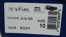 I Love Yo Kids AVA 78K Girls Fringe Boot Rust Silver Studded Size 10 image 9