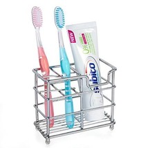 Stainless Steel Bathroom Toothbrush Holder Toothpaste Holder Stand - $10.14