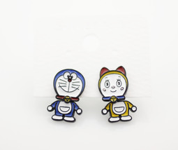Cute Doraemon and Girl friend Ear jacket, Doraemon two way earrings, Car... - $17.00