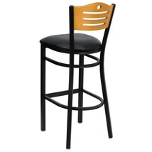 32 in. Black and Natural Cushioned Bar Stool - $180.18