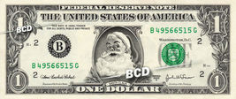 SANTA CLAUS on REAL Dollar Bill Cash Money Collectible Christmas Bank No... - $7.77