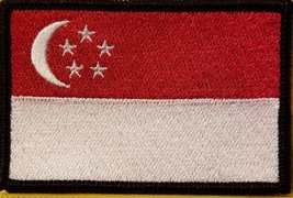 EL PASO TEXAS Flag Iron-On Patch Tactical Morale Emblem BLACK Border
