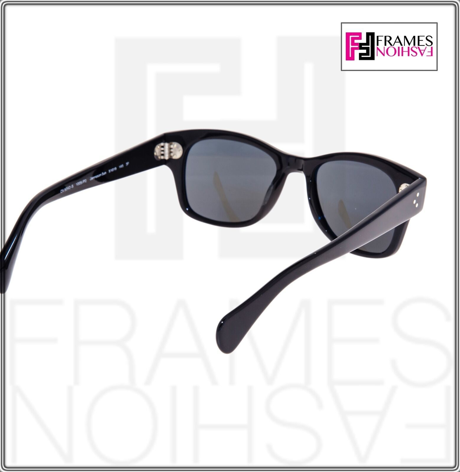 OLIVER PEOPLES Jannsson Sun OV5242S Shiny Black VFX Polarized Sunglasses 5242 image 4