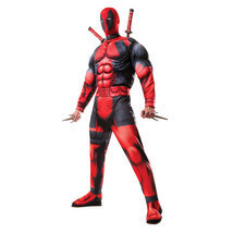 Men's Deluxe Official Marvel Deadpool Cosplay Halloween Party Costume Ou... - £35.26 GBP