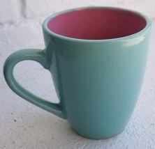 Coffee Porcelain Premium Mug 12 Oz Turquoise - Pink Tea Cup Mug - $11.83