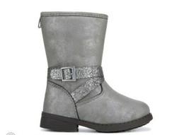 NEW OshKosh B'Gosh Fashion Boot Grey Silver Glitter Toddler Girls Size 6  - $16.00