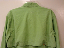 Orvis Men's Size M Button Down Shirt Textured Light Green Utility Chest Pockets image 3