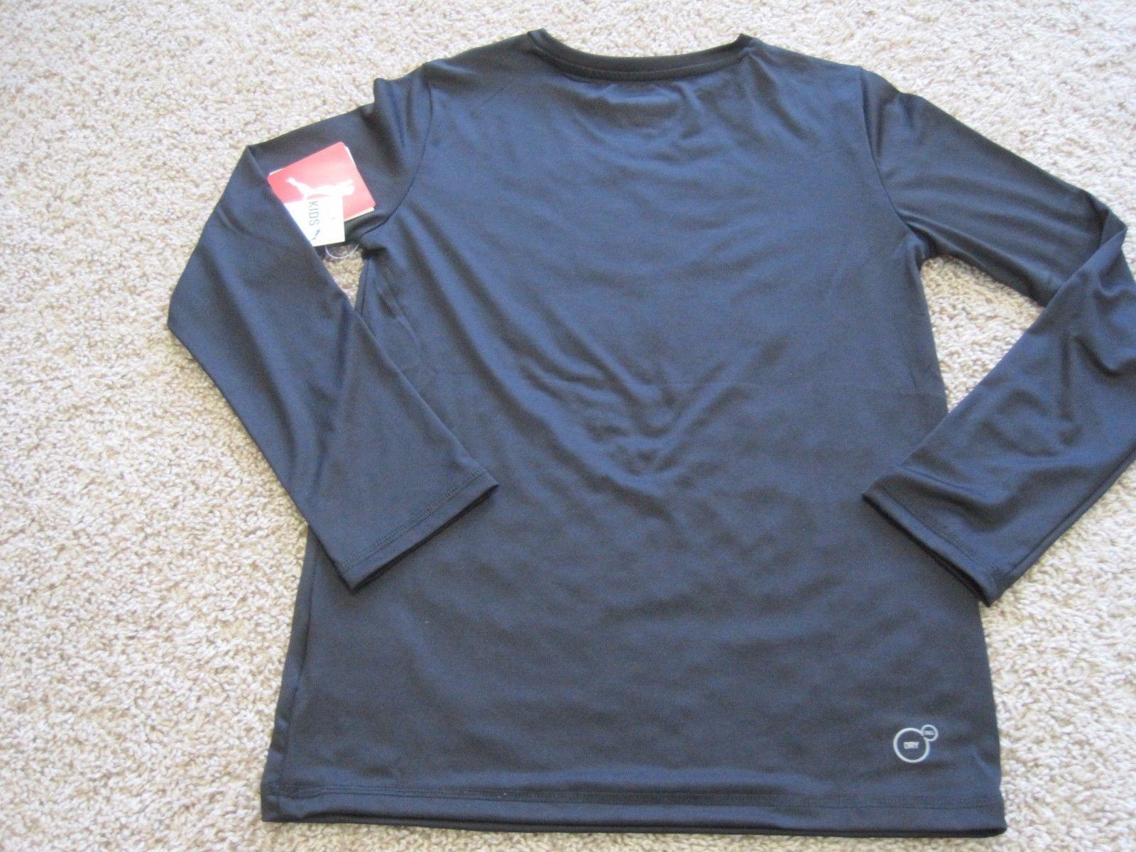 55377eae286 BNWT Puma Cell boys' active t-shirt, long sleeve, black, crew