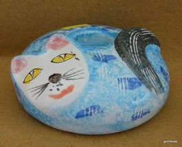 Vintage Blue Kitty Cat Candle Holder Pier 1 Ita... - $18.00