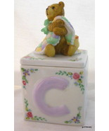 """Trinket Box with ABC Block and Bear Baby Midwest 4.5 x 2.5"""" - $18.00"""