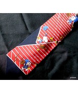 "Vintage Snoopy Football Tie 100% Silk 56"" Peanuts UFS - $19.40"