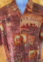 Caribbean Joe Hawaiian Shirt 100% Rayon Large  Maldives? - $23.40