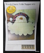 "Bearded Santa Table Topper 20 x 23"" Set of Instructions Happy Hollow Des... - $16.40"