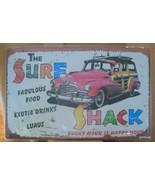 "Repro Retro Style Metal Sign NEW  10 x 16"" ""Surf Shack"" Woodie - $25.40"