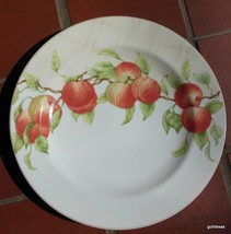 "Block China Mansfield Grove Dinner Plate Apples 10 5/8"" - $18.00"