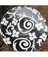 "Samanta Collection by Roscher Dessert / Salad Plate 8.5"" Black and White - $13.00"