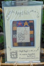"Vintage Quilt Pattern ""Angel Folk""  16 x 13 in.  Complete and Unused - $13.40"