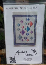 "Vintage Quilt Pattern ""Rambling Under the Sea"" Complete and Unused Fish - $13.40"