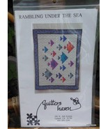 """Vintage Quilt Pattern """"Rambling Under the Sea"""" Complete and Unused Fish - $13.40"""