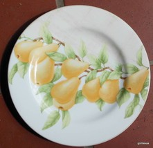 "Block China Mansfield Grove Salad / Dessert Plate Pears 8 1/4"" - $12.00"
