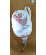 "Hand Painted Hummingbird Feeder with New Feeder Tube 8""  Stoneware - $27.00"