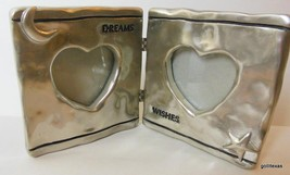 "Vintage Double Hinged Photo Frame Dreams Wishes Figi Holds 2x3"" Photos S... - $19.00"