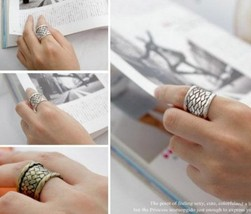 Vintage Braided Texture Cocktail Ring(Color:Antique Bronze) - $2.99