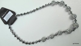 New Silver Tone Sparkly Necklace Magnetic - $11.40