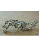 """Vintage Crystal Pin Broach Made in Austria 1.75"""" Rare - $20.40"""