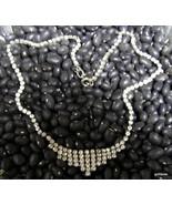 """Vintage Rhinestone Necklace 15""""  Prong Set - $22.40"""