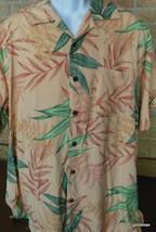 Vintage Men's Hawaiian Shirt Carribean Joe Large 100% Rayon Palm Fronds - $23.40
